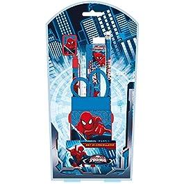 Boys Spiderman scatola regalo di papeleria–Blu