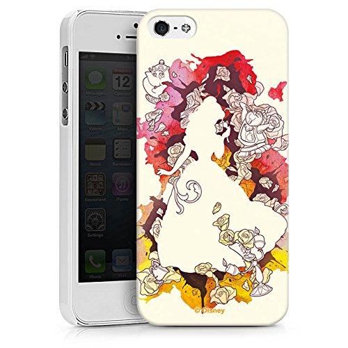 Apple iPhone 8 Plus Tasche Hülle Flip Case Disney Belle Die Schöne und das Biest Hard Case weiß
