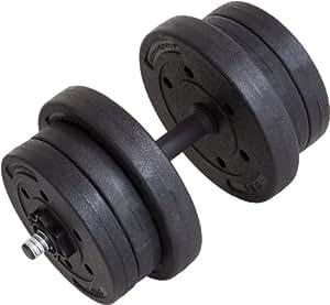 Ultrasport Set manubri corti da 20 kg, per curl