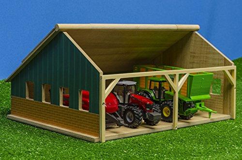 Kids Globe - 610047 - Hangar en Bois pour Tracteurs - Échelle 1/50