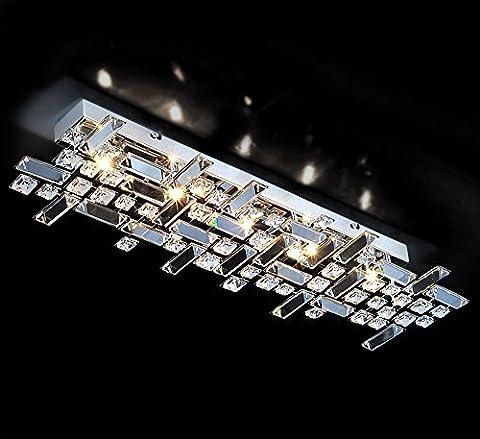 Désign verre cristal plafonnier lampe applique murale lustre 69x21cm salle de bain éclairage lumière 5xG9 doules
