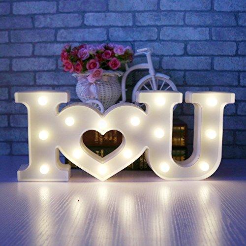 (LED Buchstaben Licht Love Night Lights – Romantische LED-Festzelt Zeichen Wand Lichter für Home Decor batteriebetrieben & USB für Wohnzimmer, Schlafzimmer, Party, Weihnachten Hochzeit Geburtstag)