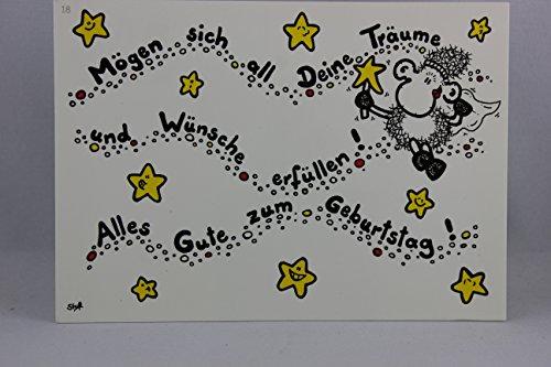 Sheepworld - 50276 - Postkarte, Nr. 18, Geburtstag, Schaf, Mögen sich all Deine Träume und Wünsche erfüllen! Alles Gute zum Geburtstag!
