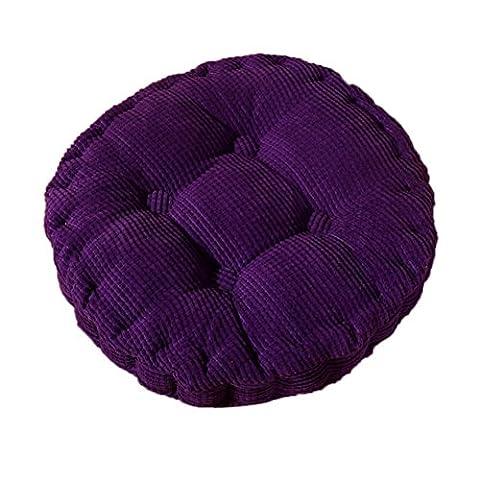 Demarkt Rund Sitzkissen Stuhlkissen Kissen für Stühle im Auto oder zu Hause Lila 40*40cm (Stühle Lila)