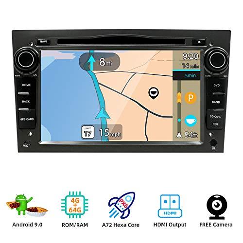"PX6 Cortex A72 Android 9 Autoradio | 4G+64G | Para Opel Vauxhall Antara Astra Zafira Corsa Meriva Coche GPS Navegacion |LIBRE Cámara trasera & Canbus |2 Din 7\"" | Volante BT 4.0 WLAN Mirror-Link DAB 4G"