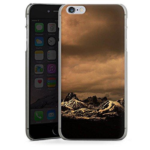 Apple iPhone X Silikon Hülle Case Schutzhülle Berglandschaft Gebirge Wolken Hard Case anthrazit-klar