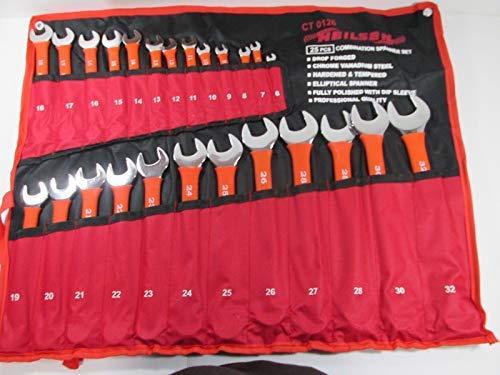 Neilsen Jeu de clés plates CT0126 6-32 mm - Rouge (25 pièces)