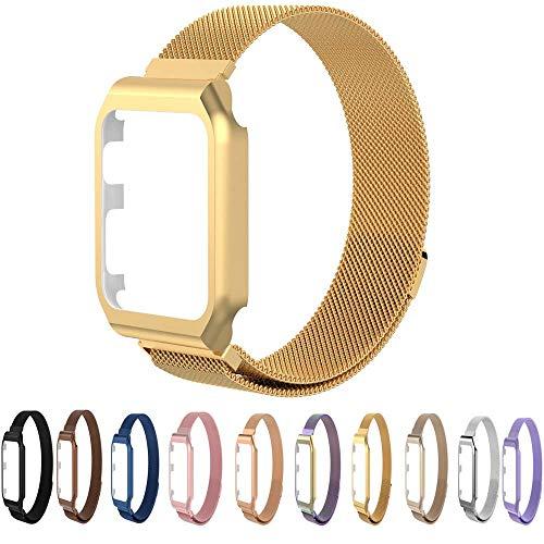 MUXAN Schutzhülle mit Magnetverschlussband aus Edelstahl 42 mm. Schutzhülle mit Milanaise-Armband mit Watch Series 3 2 1