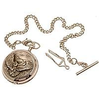Orologio da tasca–Massiccio Peltro con scheletro meccanico orologio da tasca gufo, 42