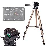 DURAGADGET Trípode Con Nivel De Burbuja Para Cámara EasyPix W510/Fujifilm FinePix XP90/Nikon Coolpix A10, S32, S7000/Sony Cyber-shot DSC-HX90 - Profesional