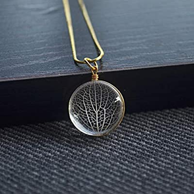 Kabbale Arbre de la vie Vraie Fleur Plaqué Or Serpent Chaîne Colliers avec pendentifs