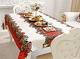Sudook tovaglia con colorato motivo natalizio, 150x 180cm, ideale per feste e come decorazione color1