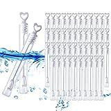 Wskderliner Seifenblasen für Hochzeit Hochzeiten Blasen Dekoration Packung von 48(Flüssigkeit nicht inbegriffen)