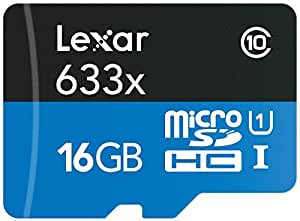 Lexar High-Performance Scheda MicroSDHC da 16 GB, 633x, UHS-I, Adattatore SD Incluso