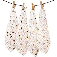 ... nacida bufanda cuadrada y toalla de baño de algodón cuadrados de tela extra suave cara ducha cochecito de dibujos animados de algodón orgánica gasa para ...