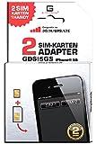 GDSI5GS/ CARBONSCHWARZ/ 2 JAHRE Herstellergarantie!/ Mehrsprachig/ Dual SIM DualSIM Adapter iPhone 5S UMTS/3G/HSDPA/GPS/LTE