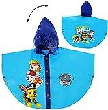 Unbekannt Regencape / Regenponcho -  Paw Patrol - Hunde  - Gr. 110 - 116 - 122 - Circa 4 bis 6 Jahre - für Kinder - Mädchen & Jungen / für Schulranzen - wasserdicht /..
