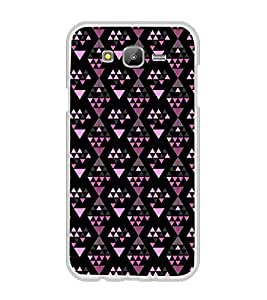 Printvisa Diamond Shaped Pink and Black Pattern Back Case Cover for Samsung Galaxy J7::Samsung Galaxy J7 J700F