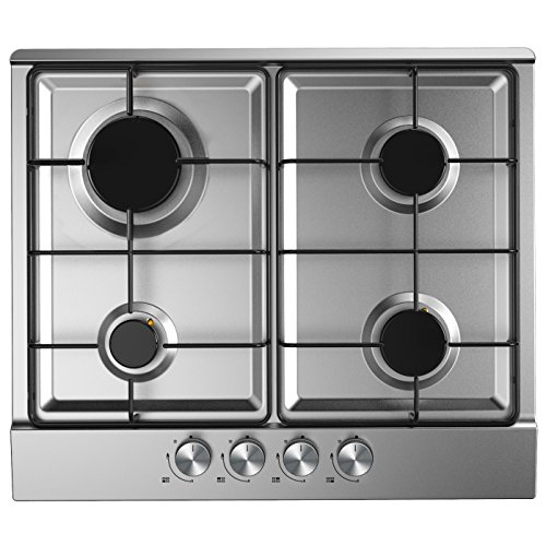 51N8xw1 x7L. SS500  - Cookology GH600SS Built-in Gas Hob in Stainless Steel | 60cm & Auto Ignition