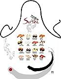 SUSHI - Fun Motiv Schürze - mit Gratis-Urkunde