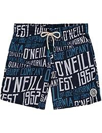 O 'Neill niño Stack Bañador para hombre, niño, Stack boardshorts, Blue Aop with Blue, 10 años (140 cm)
