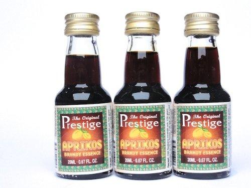 3 x 'Prestige' Aprikot Brandy Aroma Essenz, 20 ml