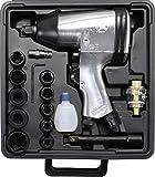 Kraftmann 3211 | Druckluft-Schlagschrauber mit Werkzeugsatz | 12,5 mm (1/2