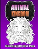 Animal Coloring Book for Older Kids & Teens ~ Perfect for Boys & Girls: Unique Teen Coloring Book with Zentangle & Mandala Animal Patterns for Hours ... for Kids: Volume 1 (Teen Coloring Books)