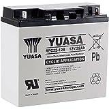 Batería cíclica YUASA REC22-12 12V 22Ah medidas (mm). Largo:181 x Ancho:77 x Alto:167 (Sustituye al modelo YPC22-12)