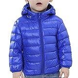 Tailloday Kinder Unisex Kids Daunenjacke Steppjacke mit Kapuze Jacket Übergangsjacke Herbst Winter (158/164 (Etikett 160), Blau)