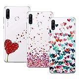 Young & Ming Cover per Huawei P30 Lite, (3 Pack) Morbido Trasparente Silicone Custodie Protettivo TPU Gel Case, Amore