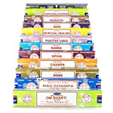 Satya Incense Set B 12x15gram Nag, Super Hit, Om Shanti, Oodh, Positive Vibes, Namaste, Champa, Opium, Reiki, Spiritual Healing, Karma, Traditional Ayurveda, Series 3, 12 x 15 g