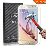 [2 Unidades] Samsung Galaxy S6 Protector Cristal Templado, Outera Protector Pantalla Protector Cristal Vidrio Templado para Samsung Galaxy S6