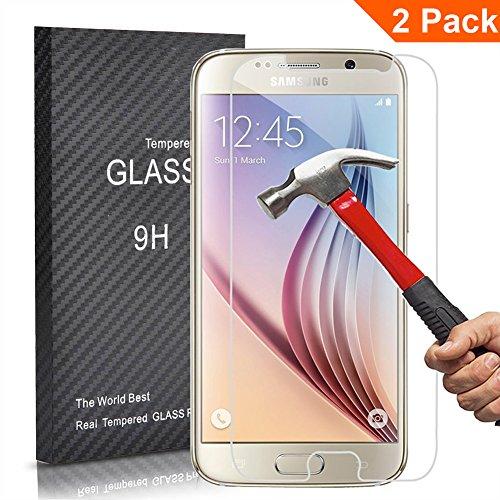 [2 Unidades] Samsung Galaxy S6 Protector Cristal Templado, Outera Prot