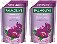Palmolive Naturals Black Orchid & Milk Liquid Hand Wash, 750ml Refill Pack, Wash Away Germs, Refreshing Fr