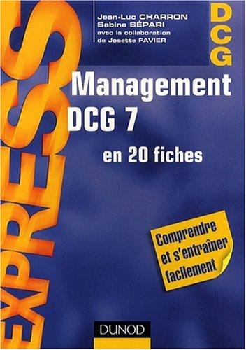 Management DCG 7 en 20 fiches