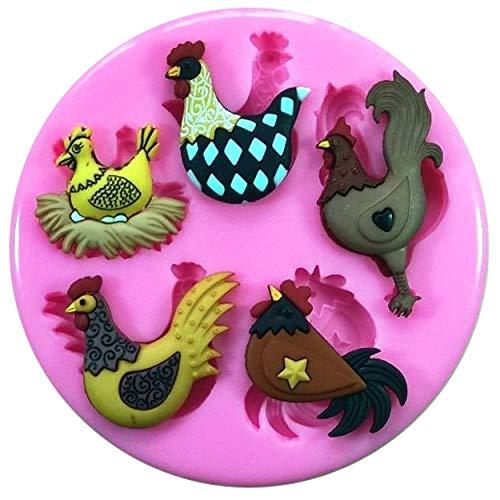 ikonform für Kuchen und Cupcakes, Hühner-Design, Hühner-Eier ()