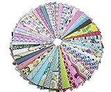 200pcs Stoffpaket 100% Baumwollstoff Patchwork Bedruckt Stoff zum Nähen Stoffreste 15 x 15cm für Kinder DIY Handwerk Scrapbook Quilten