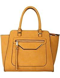 Rimen & Co. PU Leather Shell Shape Tote Womens Purse Handbag With Removable Strap GM-2490 OS-2493 CC-3114 GS-2993...