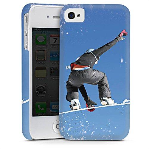 Apple iPhone 5s Housse Étui Protection Coque Snowboard Saut Sport d'hiver Cas Premium mat