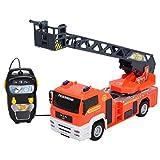 DICKIE Fire Squad Feuerwehr Drehleiter 35 cm SOS Einsatzfahrzeug Feuerwehrwagen
