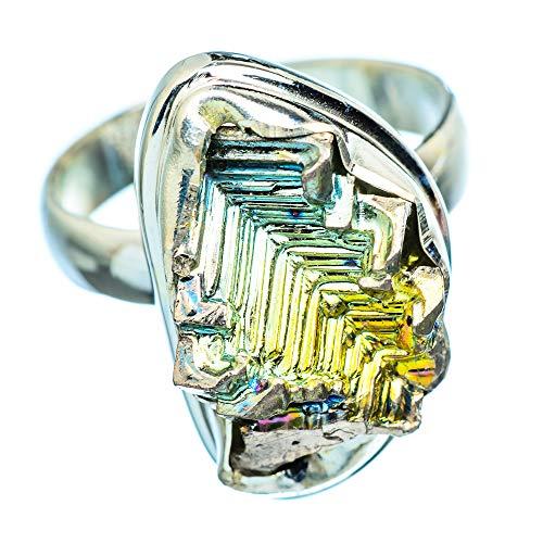 Bismuth Crystal, 925 Sterling Silber Ring 7.75 (Ana Silver Co Ringe)