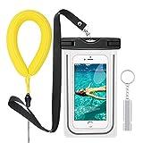 PolySky Wasserdichte Hülle Taschen mit Lanyard Pfeife Kamera Float Handschlaufe für iPhone 6S Plus 5 SE Samsung Galxy S7 S8 A5 A3 J7 Huawei Moto G5 G4 Wasserdichte Handy Beutel für Strand Wassersport
