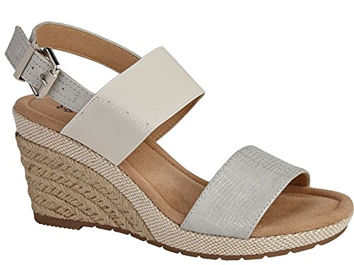 Foster Footwear - Sandali con Zeppa da ragazza' donna Silver