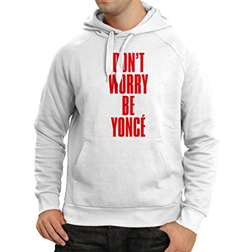 N4181H Hoodie Dont Worry Be Yonce gift Bianco Red