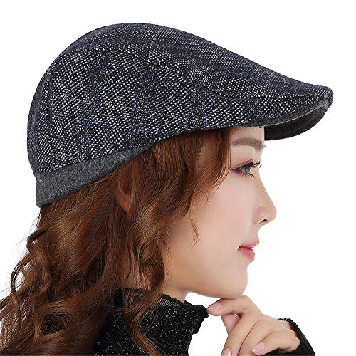 Leisure Beach Holiday Sonnenhut Damen Retro Fashion Bay Spring Autumn Thunder Cap, L, Grau -