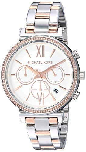 Michael Kors Damen Analog Quarz Uhr mit Edelstahl Armband MK6558