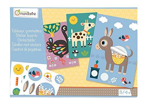 Avenue Mandarine - KC015O - Boîte Créative - Tableaux en Gommettes