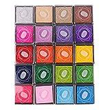 Lomofila Coussins encreurs, Tampon Encreur Encre Empreinte Digitale pour Usage avec Caoutchouc Timbres sur Papier, Bon Cadeau pour Les Enfants (20 Couleurs)