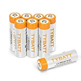 Wiederaufladbare Batterien, TYBATT NiMH Akku AA Mignon 2800mAh hochkapazitiv Hohe Kapazität ohne Memory-Effekt Profi Digital Kamera-Akkubatterie 8er Pack